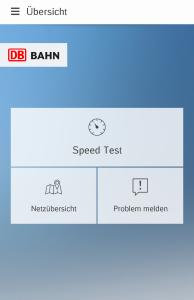 Startübersicht von DB Netzradar