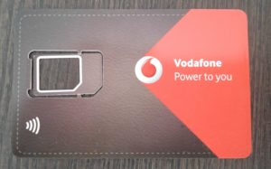 Eine VodafoneNFC-Sim-Karte ist notwendig für das kontaktlose Bezahlen mit Vodafone-Wallet