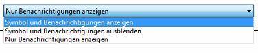 Windows-Symbole und wie sie sich verhalten sollen.