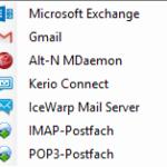 Das sind die verschiedenen Postfächer, die Mailstore von sich aus unterstützt ....