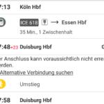 Alternative zu Zugausgällen und Verspätungen finden mit der App DB Streckenagent
