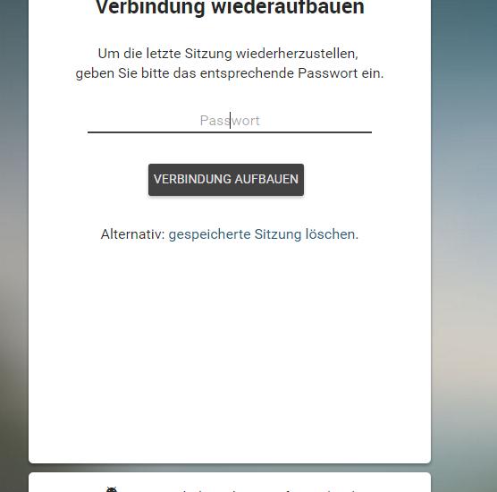 Threema Web kann mit einem Passwort geschützt werden.