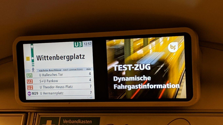 U.-Bahn-Daten-Anzeige bei den BVG