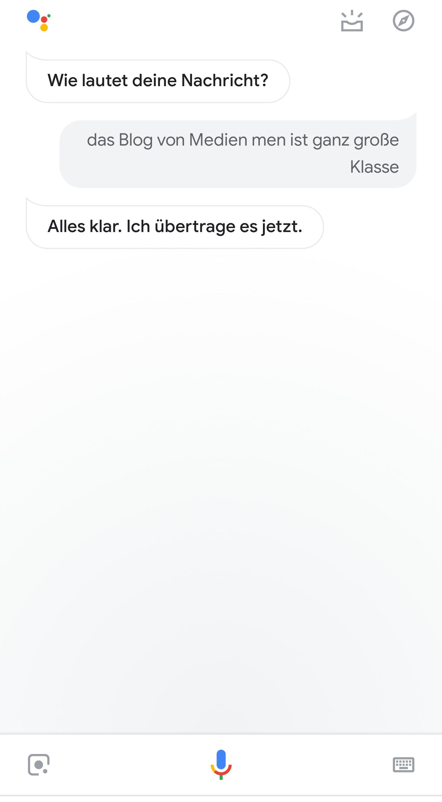 In der Google Home App kann man auch Benachrichtigungen an die Gerte senden, die dann von unterwegs auf den Google Home-Geräte zuhause gesendet werden.
