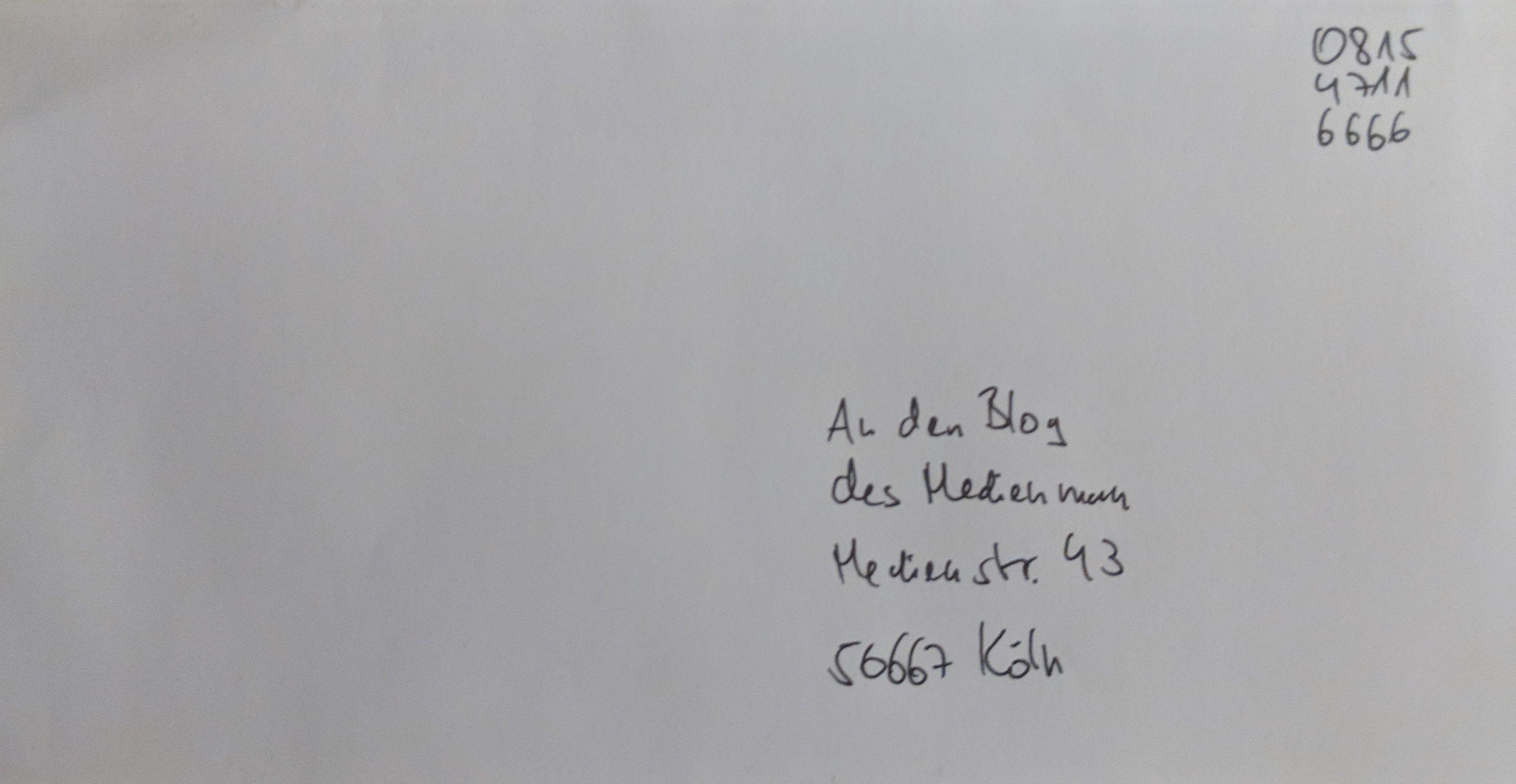 Fake-Brief mit Handyporto-Fake